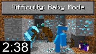 "Minecraft Speedrunners VS ""Baby Mode"" Difficulty..."