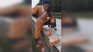 Karate Master Breaks 100 Bricks in Record Time!