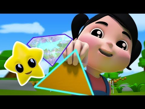 Forme canzone | 3D Animazione per i bambini | Imparare diverse forme | Shapes Song | Kids Learning