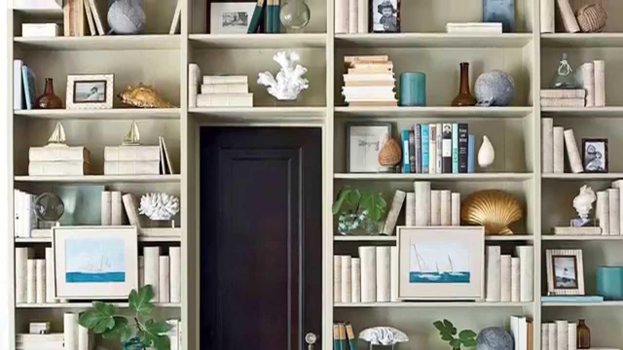 how to decorate a bookshelf seaside design coastal living - How To Decorate Bookshelves