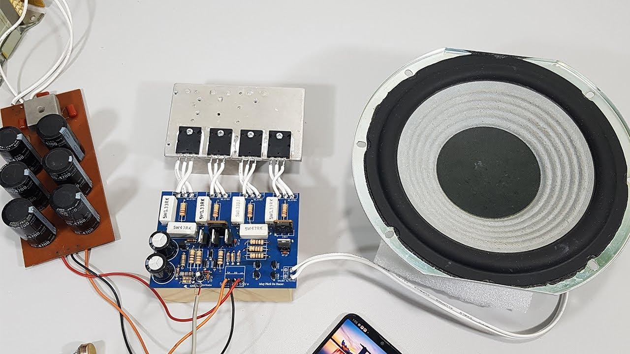 Amplificador de Sonido 200 WATTS Monofonico