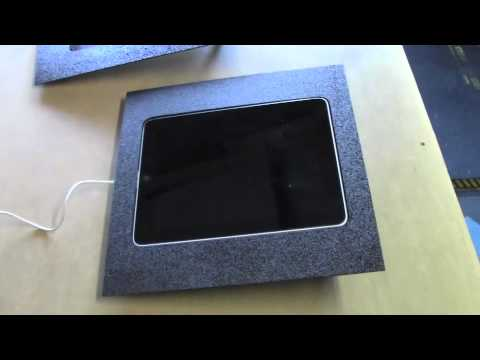 iPad 1 custom pivoting mounting kit for car or home by Fifield Fabrications