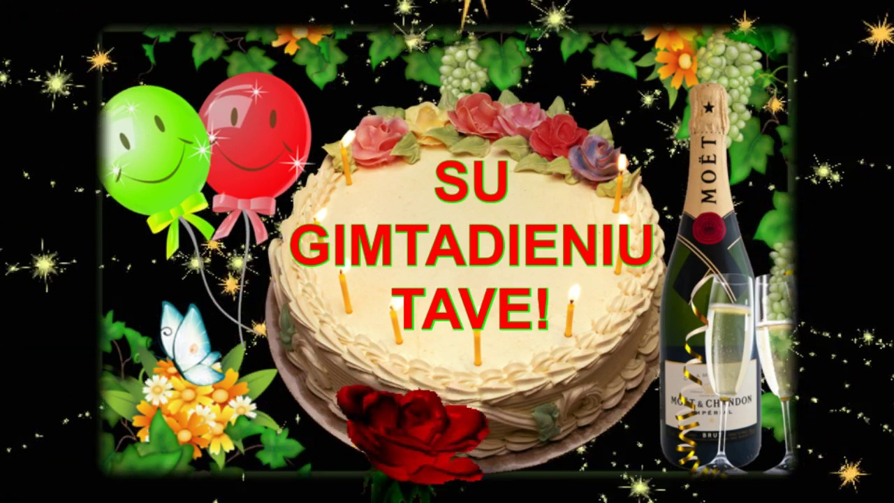 sveikinimas su gimtadieniu    u266b u2665 u266b