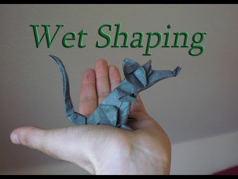 Origami Rat (Eric Joisel) Wet Shaping Tutorial with elephant hide