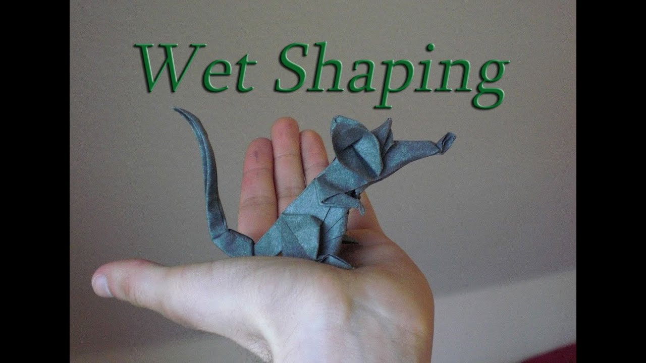 Origami rat eric joisel wet shaping tutorial with elephant hide origami rat eric joisel wet shaping tutorial with elephant hide youtube jeuxipadfo Images