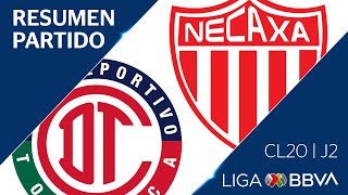 Resumen y Goles | Toluca vs Necaxa | Jornada 2 - Clausura 2020 | Liga BBVA MX