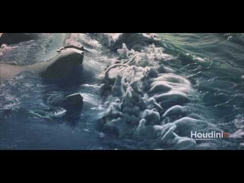 Houdini Flip Fluid Beach Waves Simulation Render