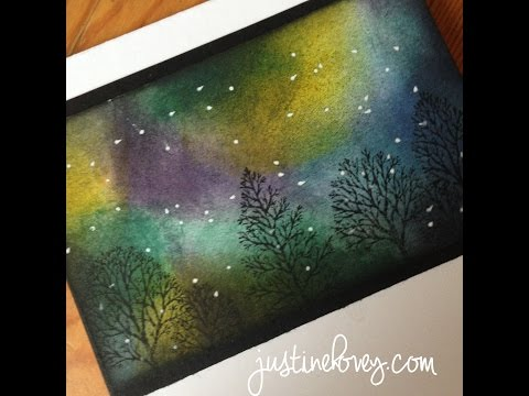 12 Days Of Christmas Cards *Day 6* Northern Lights