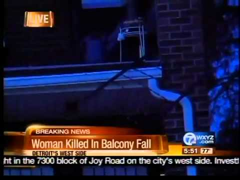 Woman killed in balcony fall