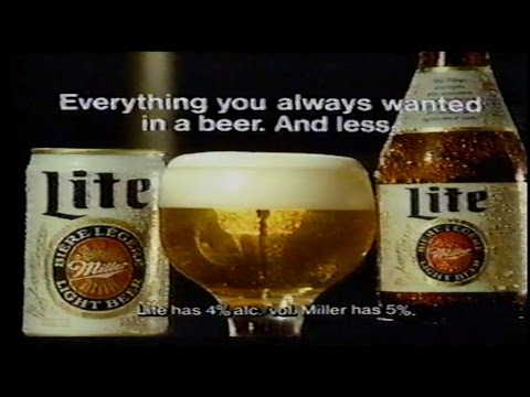 Miller Lite LC Greenwood, Bert Jones, Howard Johnson 1980s Commercial