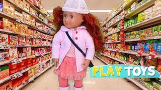 Play Baby Doll Supermarket Grocery Shopping Toys! American Girl, OG Dolls silly pretend play