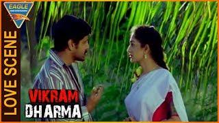Vikram Dharma Hindi Dubbed Movie || Vikram Beautiful Love Scene || Eagle Hindi Movies