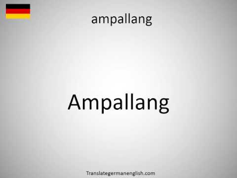 How to say ampallang in German?