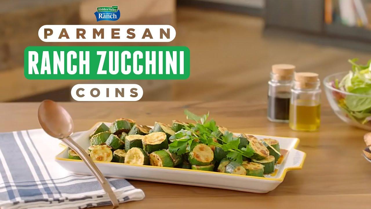 Parmesan-Ranch Baked Zucchini Coins   Keto-Friendly