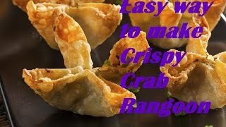 Super Easy way to Make crispy  Crab Rangoon