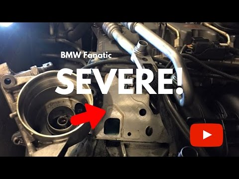 The Most SEVERE BMW N54/N55 Engine Gasket Oil Leak!