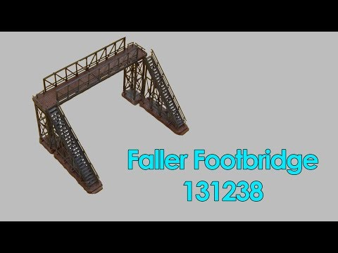 How to mount the Faller Footbridge (131238) [Trainroom]