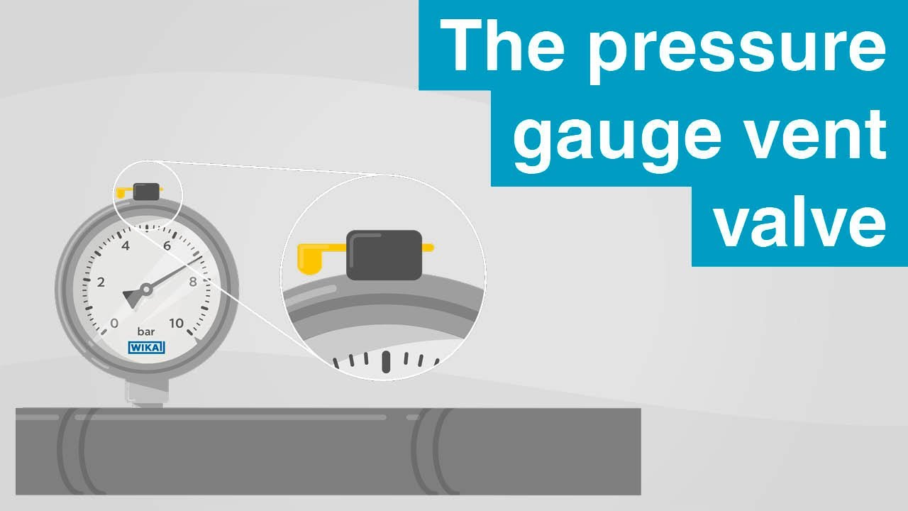 The pressure gauge vent valve | This is what you have to look out for!