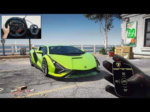 2020 Lamborghini Sian | POV Drive – GTA 5 Steering Wheel – Logitech G29 Gameplay
