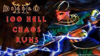 Diablo 2: 100 Hell Chaos Sanctuary Runs - Magic Find Results