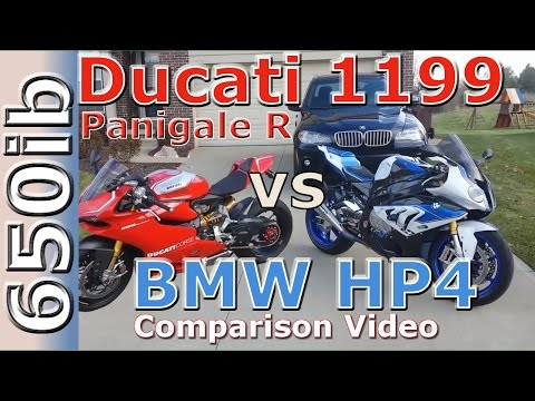 Ducati 1199 Panigale R vs BMW HP4 | Comparison Video