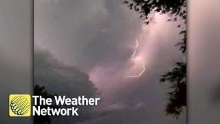 WATCH THIS: Frightening video of lightning storm overhead amid tornado warning