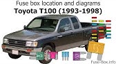 Toyota Hilux T100 Pickup 1989 1997 Fuse Box Diagrams Youtube