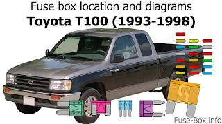 [SCHEMATICS_48DE]  Fuse box location and diagrams: Toyota T100 (1993-1998) - YouTube | 1998 Toyota T100 Engine Diagram |  | YouTube