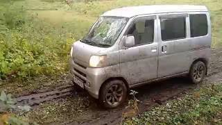 Off-Road Test-Drive Daihatsu HiJET Cargo.  2WD vs 4WD