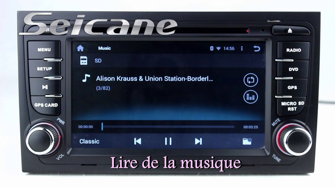 android 4 4 autoradio gps pour 2002 2008 audi a4 s4 rs4 avec connexion bluetooth iphone 3g wifi. Black Bedroom Furniture Sets. Home Design Ideas