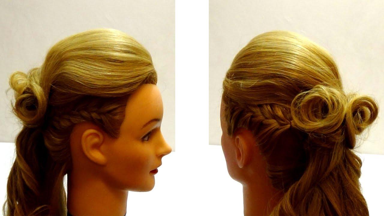 Видео уроки причесок для разных типов волос - онлайн Причёски на длинные волосы на праздник ютуб