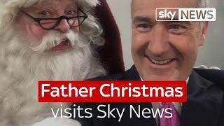 Father Christmas visits Sky News thumbnail