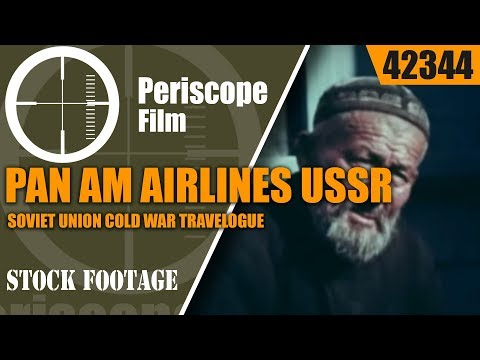 PAN AM AIRLINES USSR  SOVIET UNION  COLD WAR TRAVELOGUE  42344