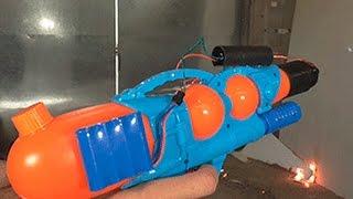 Водный пистолет или опаснейший ОГНЕМЕТ за 5 минут