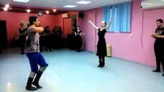 15 02 2015 Произвольный танец  Лезгинка видео  Как танцевать лезгинку  Уроки танца