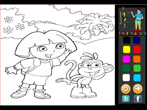 Dora The Explorer Coloring Games Kids Coloring Games - YouTube