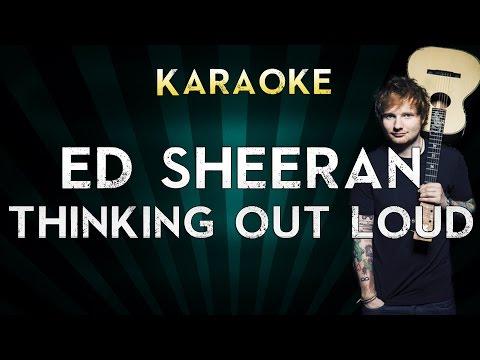 Ed Sheeran - Thinking Out Loud   Lower Key Karaoke Instrumental Lyrics Cover Sing Along