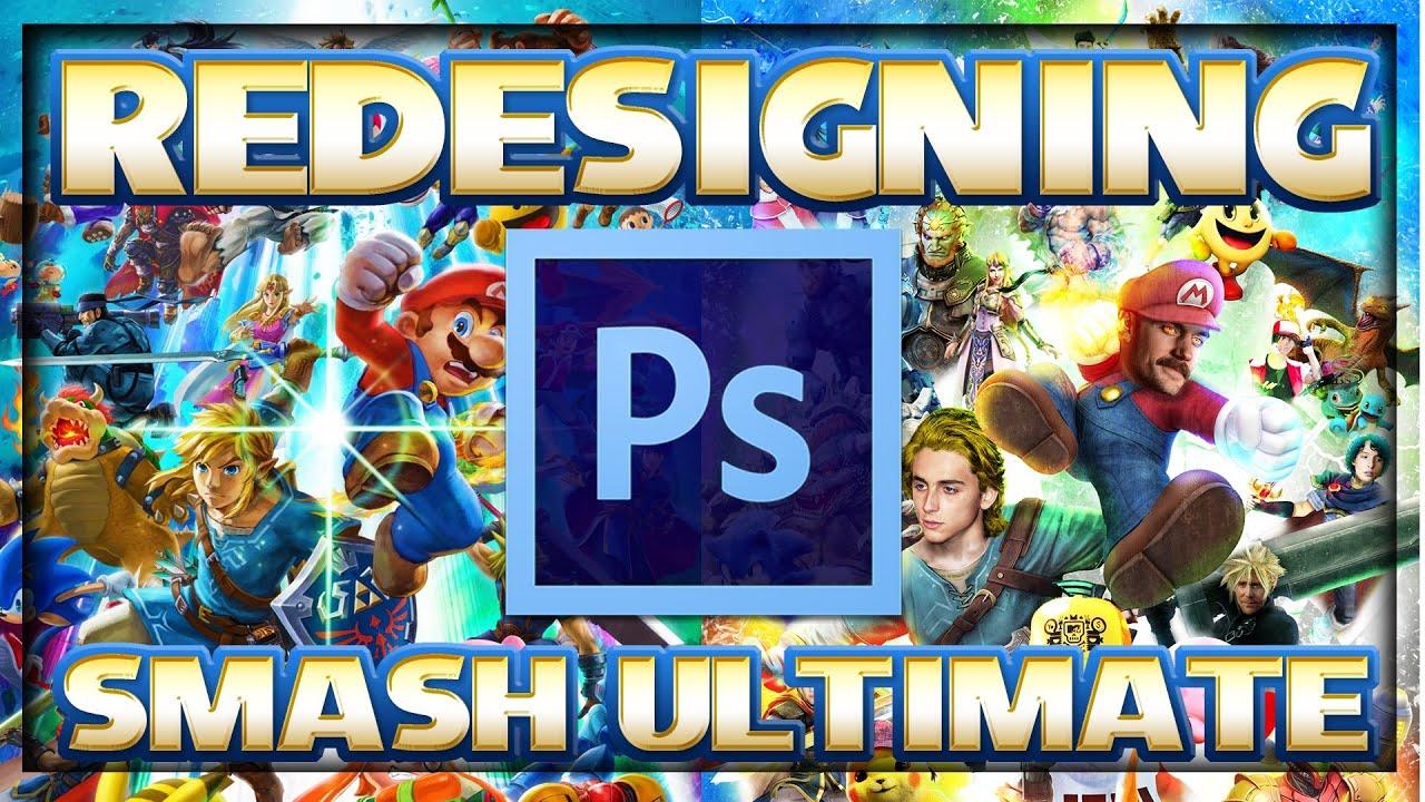 Redesigning Super Smash Bros. Ultimate | Photoshop Breakdown