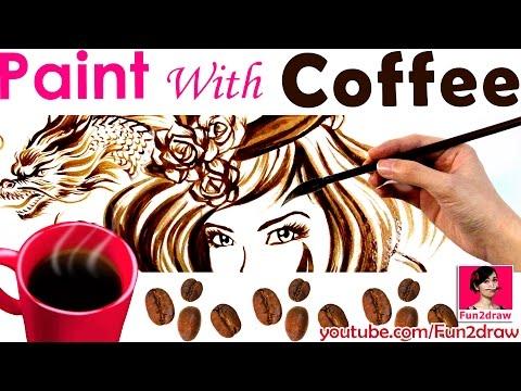 Art challenge: painting with coffee   Amazing art effects!   Mei Yu