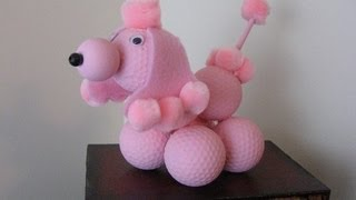 Golf Ball Poodle Craft Tutorial Cute And Easy!
