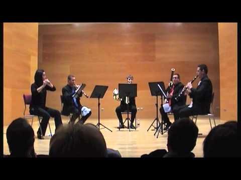 Edeta Wind Quintet - La Cheminée du Roi Rene - D. Milhaud - Madrigal-Nocturne