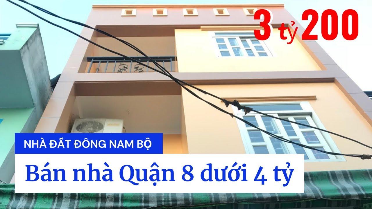 Bán Nhà Quận 8 Giá Rẻ – Hẻm 3189 Phạm Thế Hiển, P.7, Q.8. Dt 4,5x8m Trệt 2 Lầu