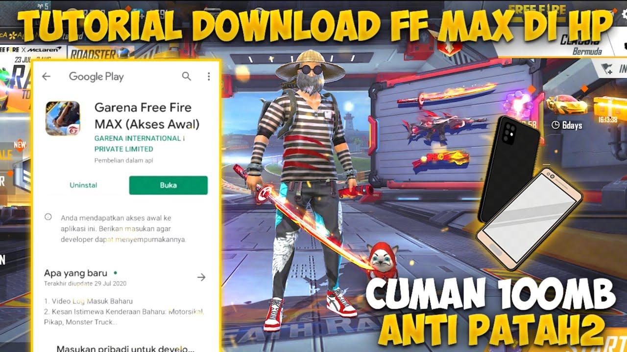 TUTORIAL DOWNLOAD FF MAX DI HP!! WAJIB COBAIN NO NGELAG ANTI PATAH-PATAH