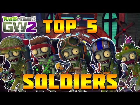 "Top 5 Foot Soldiers - Plants vs Zombies Garden Warfare 2 ""TOP 5 CHARACTERS"""