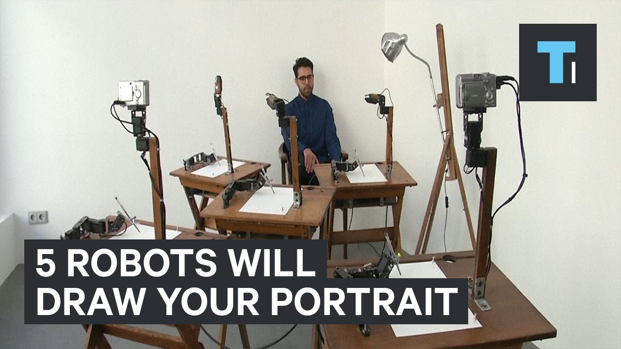 Five Robots Will Draw Custom Portraits Of You