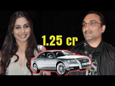 Rani Mukherjee's 1.25 crore CAR from boyfriend Aditya Chopra