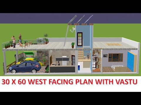 # 7 HOUSE PLAN - 30x60 west facing house plan 2018 with vastu