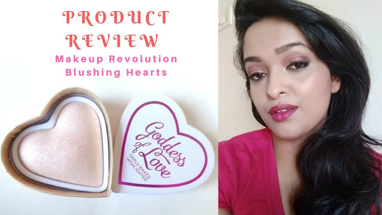 Goddess of Love Highlighter by Makeup Revolution Review and Demo
