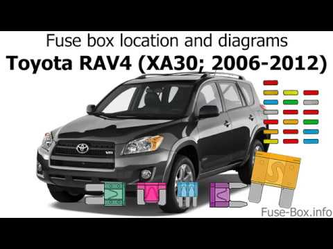 fuse box location and diagrams toyota rav4 xa30 2006. Black Bedroom Furniture Sets. Home Design Ideas