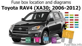 Fuse Box Location And Diagrams Toyota Rav4 Xa30 2006 2012 Youtube